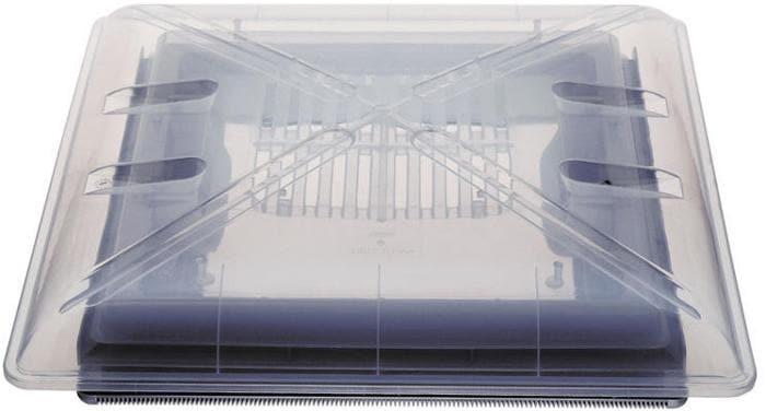 Ersatzklarglas MPK fALr Dachhaube 40x40cm mit BeschlA¤gen, grau