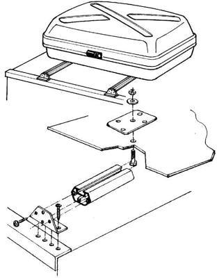 dachbox befestigung preisvergleiche erfahrungsberichte. Black Bedroom Furniture Sets. Home Design Ideas