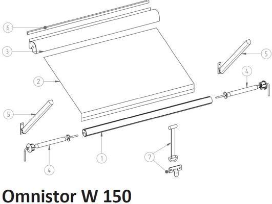 ersatzteile f r thule omnistor w 150 ersatzteile thule omnistor markisen thule ersatzteile. Black Bedroom Furniture Sets. Home Design Ideas