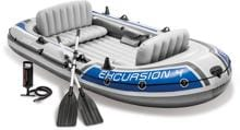 Intex Excursion 4 Schlauchboot-Set inkl. Paddel u. Pumpe