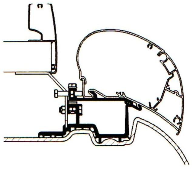 Thule Omnistor 6200 9200 6002 6900 Adapter Sprinter