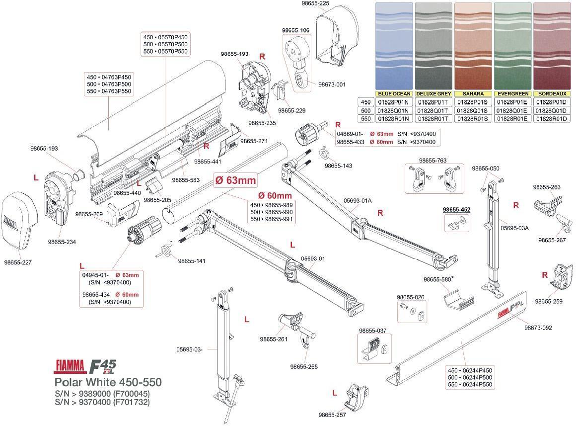 Endkappe Links Wei Fiamma Ersatzteil Nr 98655 227