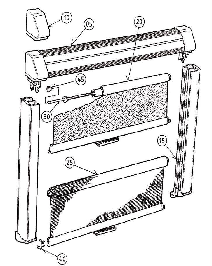 seitz f hrungsschienen satz bg49 f r rastrollo 2000 3000 von dometic seitz ersatzteile bei. Black Bedroom Furniture Sets. Home Design Ideas