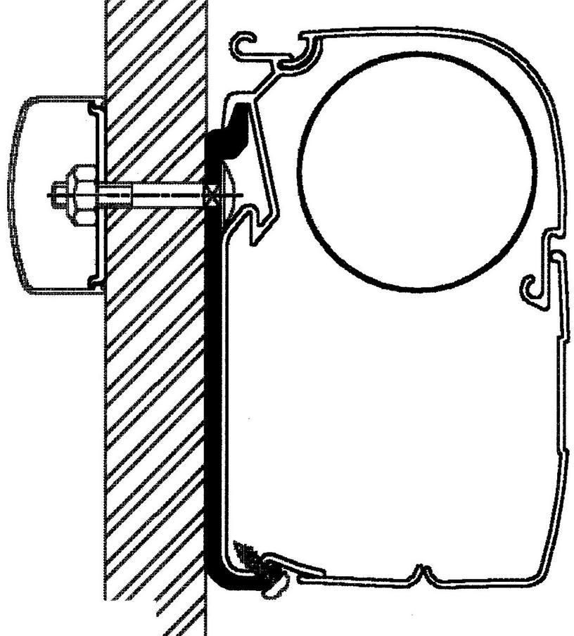 Thule Omnistor Flat Adapter 300cm Von Thule Omnistor