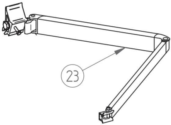 gelenkarm links f r 2 3m markisenl nge thule ersatzteil. Black Bedroom Furniture Sets. Home Design Ideas