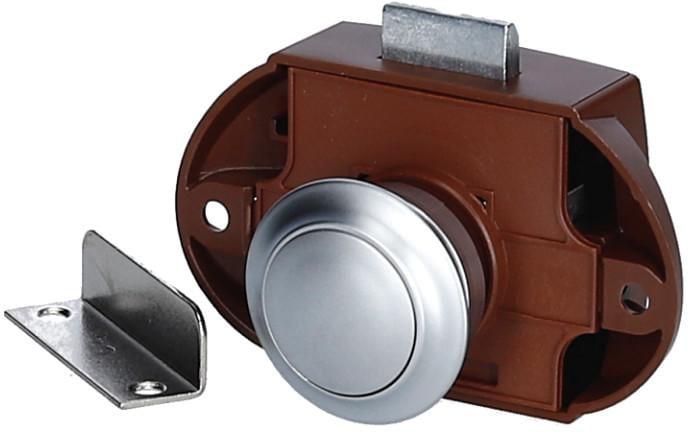 push lock schloss chrom matt von diverse bei campingshop. Black Bedroom Furniture Sets. Home Design Ideas