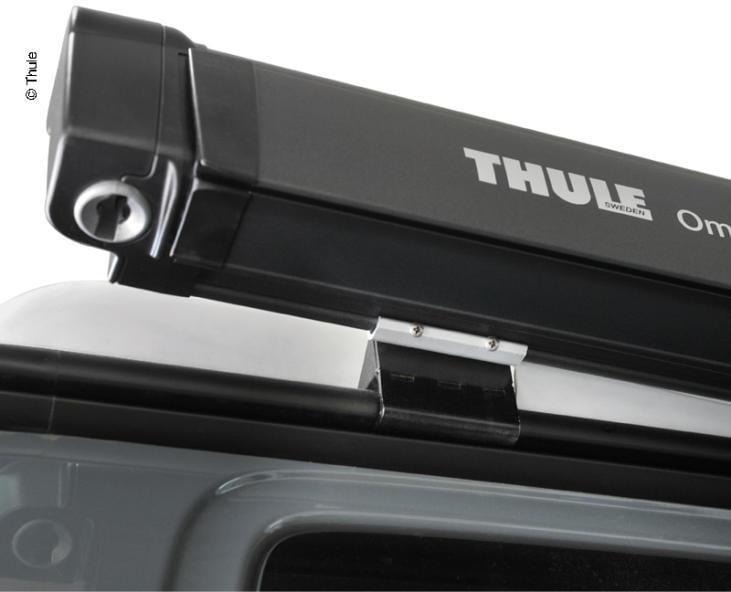 Thule Omnistor 4900 Markise Schwarz 260cm Mystic Grau
