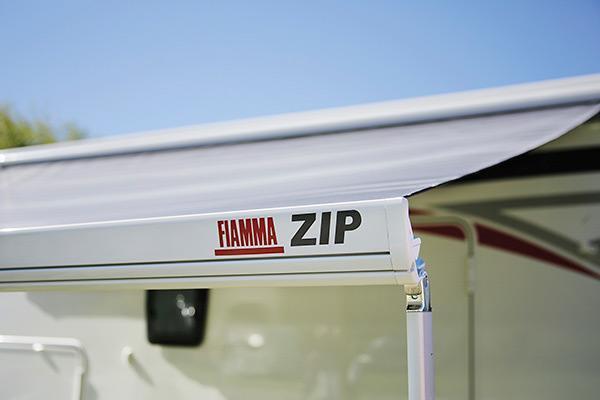 Fiamma zip l 450 markise mit vorzelt 450cm deluxe grey Fiamma markise kurbel