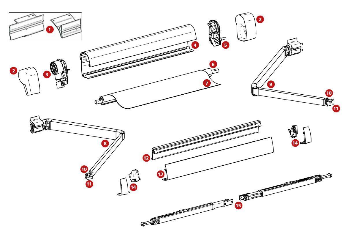 Montage Adapterplatten T5 Thule Ersatzteil Nr 307993