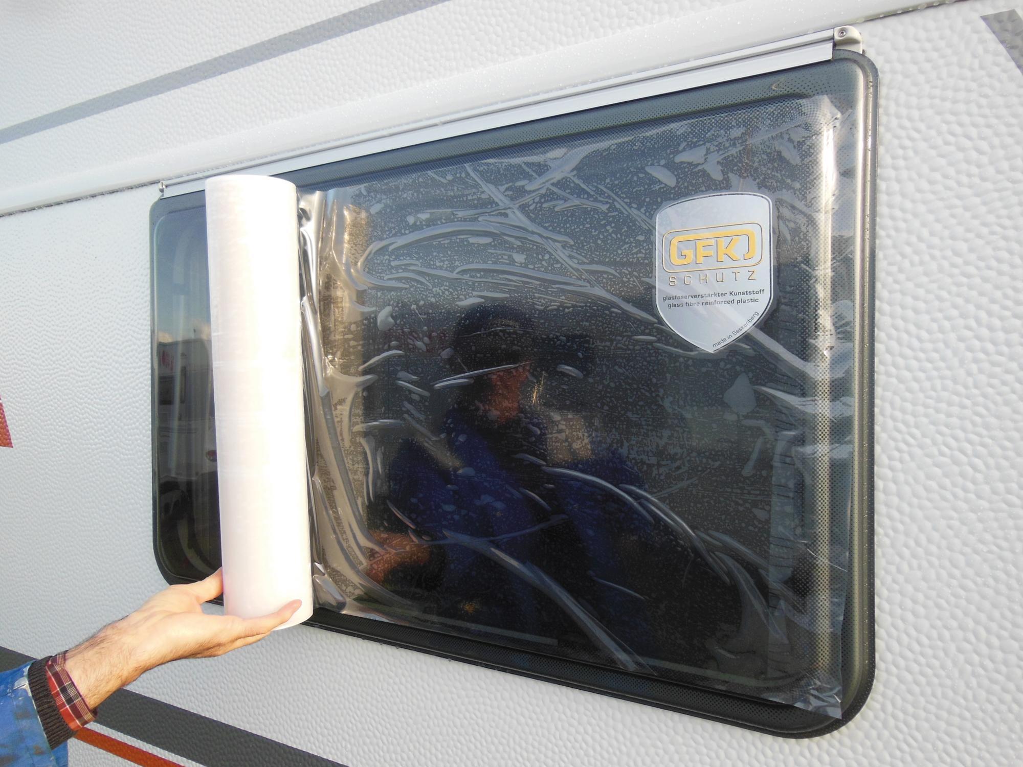 Hindermann H 466 Fensterschutzfolie transparent 30m von