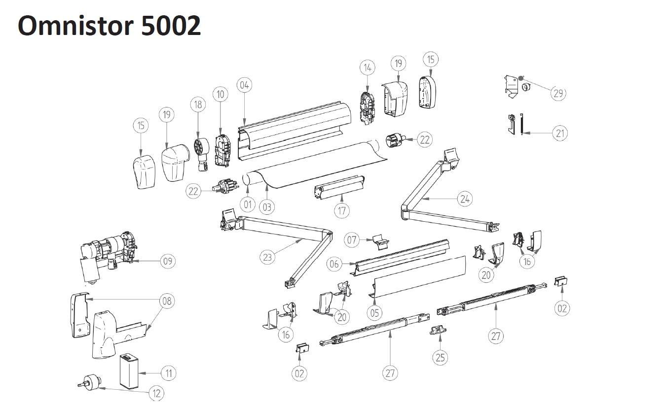 Frontblende thule omnistor 5002 230cm wei von thule Antrieb fur markisen